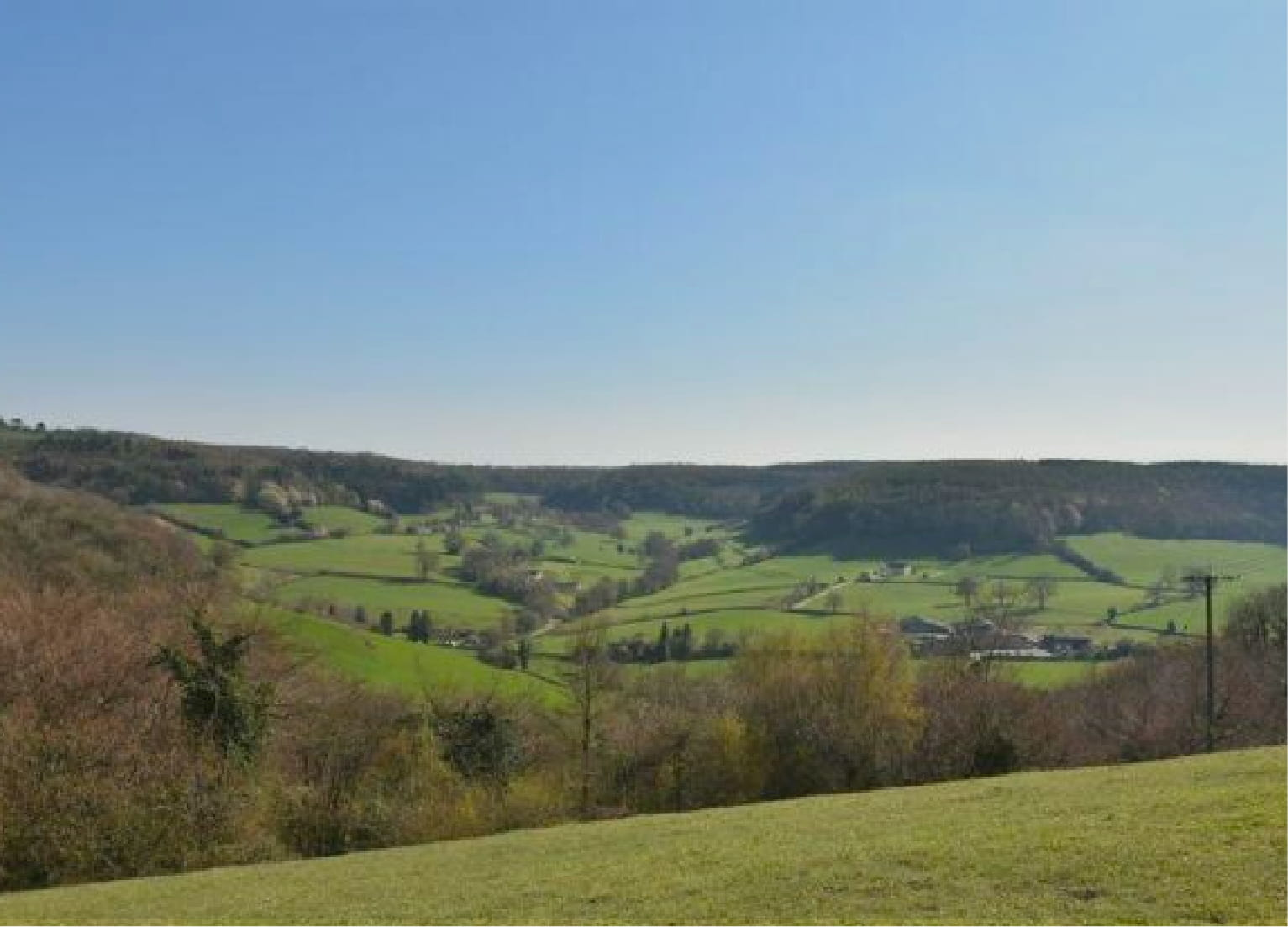 Cotswold scenery and hills
